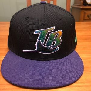 Tampa Bay Rays Throwback MLB Fitted Hat